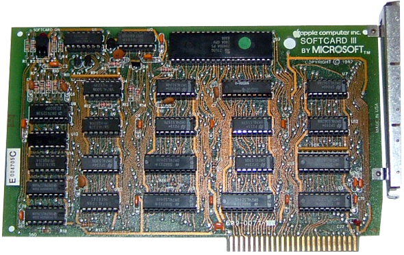 Microsoft SoftCard Z80 Card for the Apple II Computer